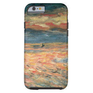 Coucher du soleil en mer par Renoir, art vintage Coque iPhone 6 Tough