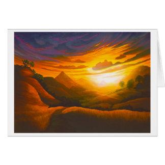 Coucher du soleil en poly canyon cartes de vœux