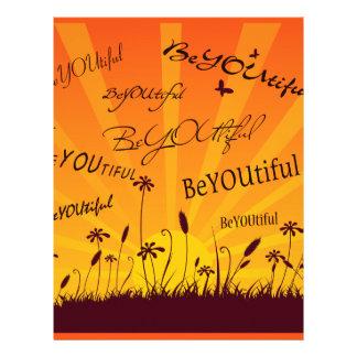 Coucher du soleil et papillons de BeYOUtiful Prospectus 21,6 Cm X 24,94 Cm