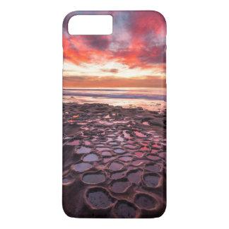 Coucher du soleil extraordinaire aux piscines de coque iPhone 7 plus
