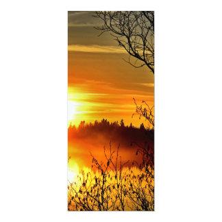 Coucher du soleil carton d'invitation  10,16 cm x 23,49 cm