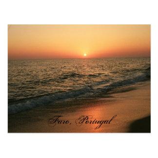 Coucher du soleil : Faro, Portugal Cartes Postales