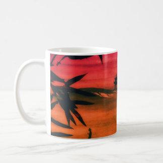 Coucher du soleil japonais mug