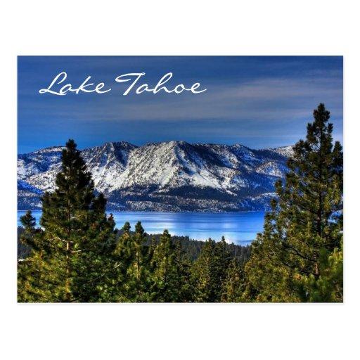 Coucher du soleil le lac Tahoe Nevada/carte postal Cartes Postales