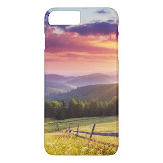 Coucher du soleil majestueux dans les montagnes coque iPhone 7 plus