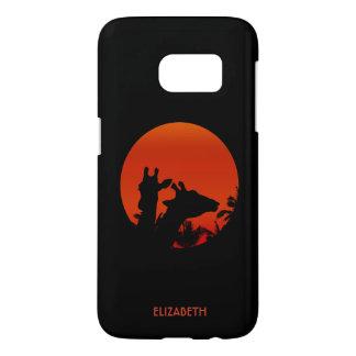 Coucher du soleil noir de Sun de silhouettes de Coque Samsung Galaxy S7