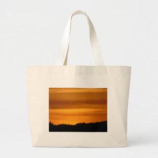Coucher du soleil orange grand sac