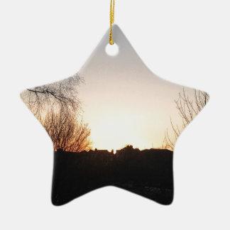 Coucher du soleil ornement étoile en céramique
