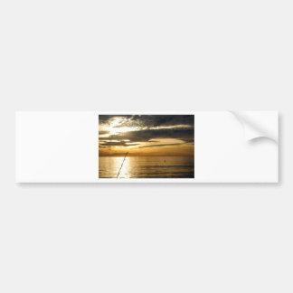 coucher du soleil Pacifique d'or Autocollant Pour Voiture