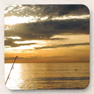 coucher du soleil Pacifique d'or Dessous-de-verre