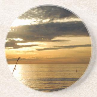 coucher du soleil Pacifique d'or Dessous De Verres