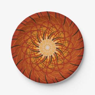 Coucher du soleil personnalisable (spirograph assiettes en papier