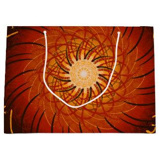 Coucher du soleil personnalisable (spirograph grand sac cadeau