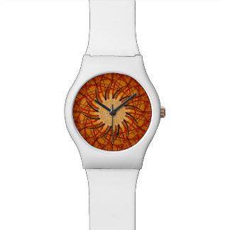 Coucher du soleil personnalisable (spirograph montres bracelet