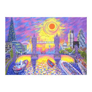 Coucher du soleil : Piscine de Londres 2013 Toiles