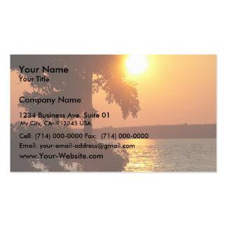 Coucher du soleil (pris de plage sylvaine Ny) Carte De Visite Standard