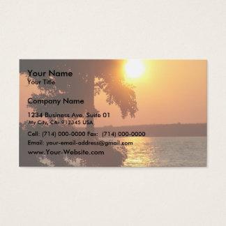 Coucher du soleil (pris de plage sylvaine Ny) Cartes De Visite