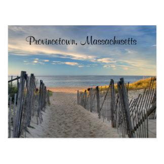 Coucher du soleil Provincetown, carte postale de