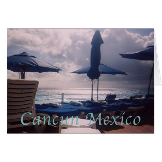Coucher du soleil romantique chaud de Cancun Carte De Vœux