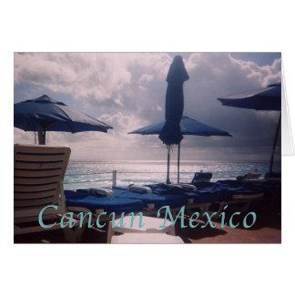 Coucher du soleil romantique chaud de Cancun Cartes