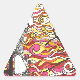Coucher du soleil sticker triangulaire