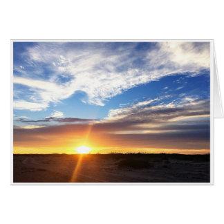 Coucher du soleil sur la plage de Matagorda Carte De Vœux