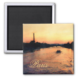 Coucher du soleil sur la Seine aimant à Paris,