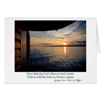 Coucher du soleil sur le fleuve Amazone avec la ci Cartes De Vœux