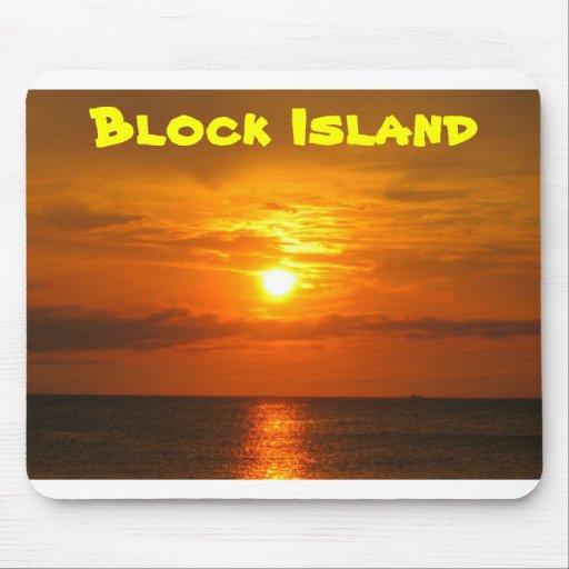 Coucher du soleil sur l'Île de Block Tapis De Souris