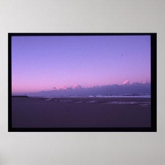 coucher du soleil sur l'océan posters