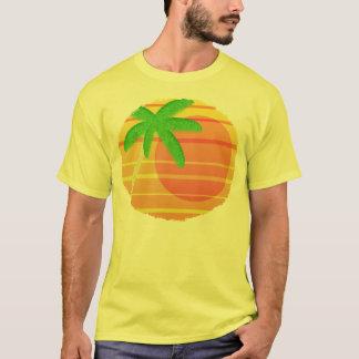 Coucher du soleil sur l'ovale de Maui T-shirt