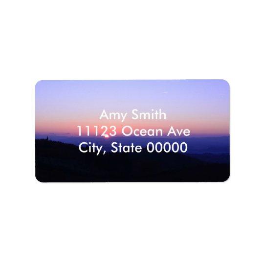 Coucher du soleil toscan étiquette d'adresse