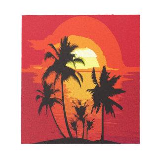 Coucher du soleil tropical bloc-note