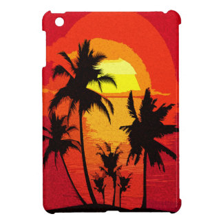 Coucher du soleil tropical coque iPad mini