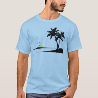 coucher du soleil tropical d'été t-shirt