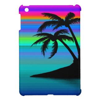Coucher du soleil tropical d'île coques pour iPad mini