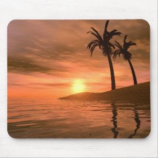 Coucher du soleil tropical Mousepad Tapis De Souris