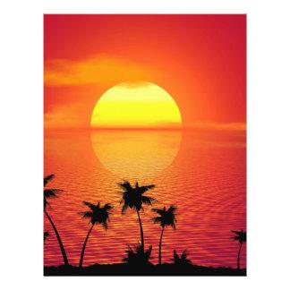 Coucher du soleil tropical prospectus 21,6 cm x 24,94 cm