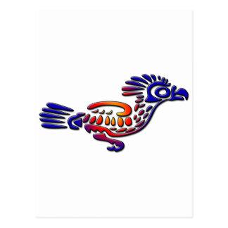 Coucou terrestre antique de conception du Mexique Carte Postale