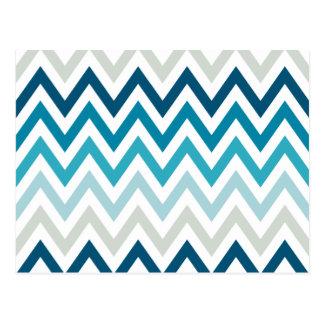 Couleur blanche bleue de dessins géométriques de cartes postales