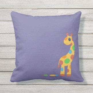Couleur colorée de coutume de girafe de bande oreillers