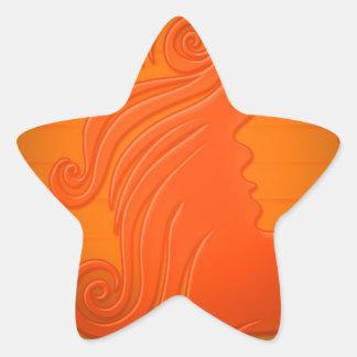 couleur d'arrière - plan de coiffure de femme des sticker étoile