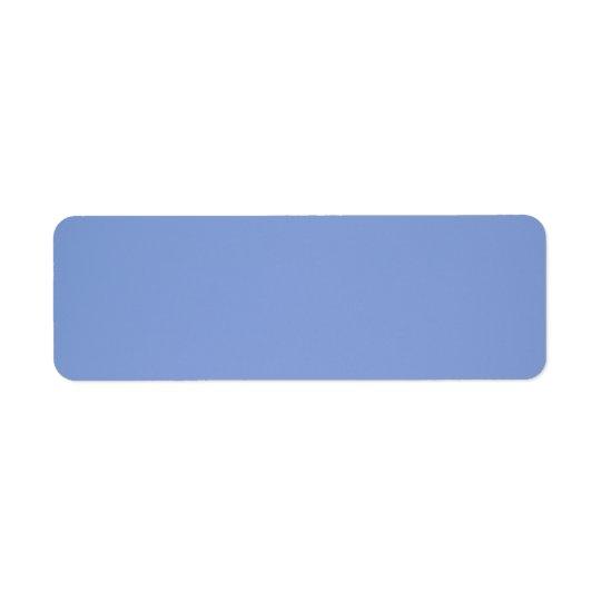 Couleur de bleu de ciel étiquette d'adresse retour