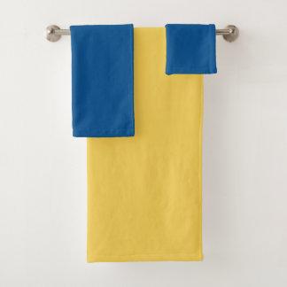 Couleur de bloc dans bleu et jaune - ensemble de