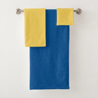 Couleur de bloc dans jaune et le bleu - ensemble