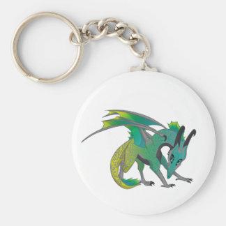 Couleur de dragon porte-clé rond