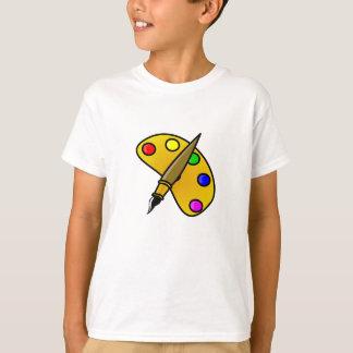 couleur de palette de l'artiste t-shirt