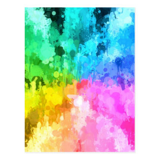 couleur de peinture d'égouttement de chakra par le carte postale