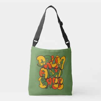 couleur de reggae de tambour et de basse - logo, sac