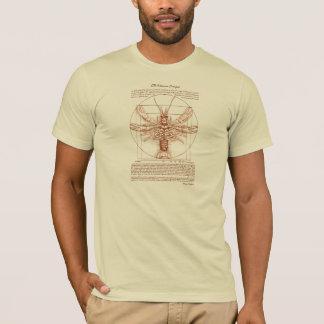 Couleur de rouille d'écrevisses de Vitruvian T-shirt